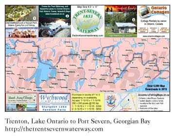Our Trent Severn Waterway Print Map, download