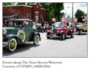 Many events, fairs and festivals each year along The Trent Severn Waterway